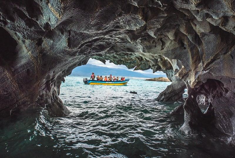 marble caves, patagonia