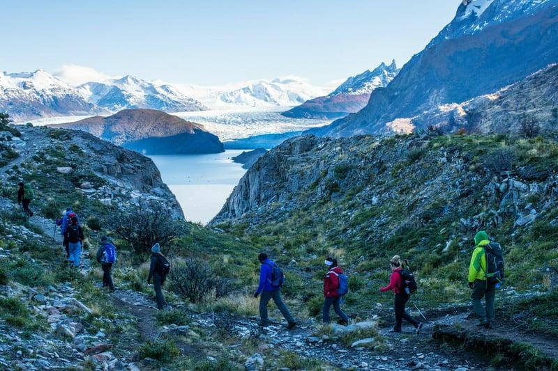 Grey Trail Torres del Paine W trek