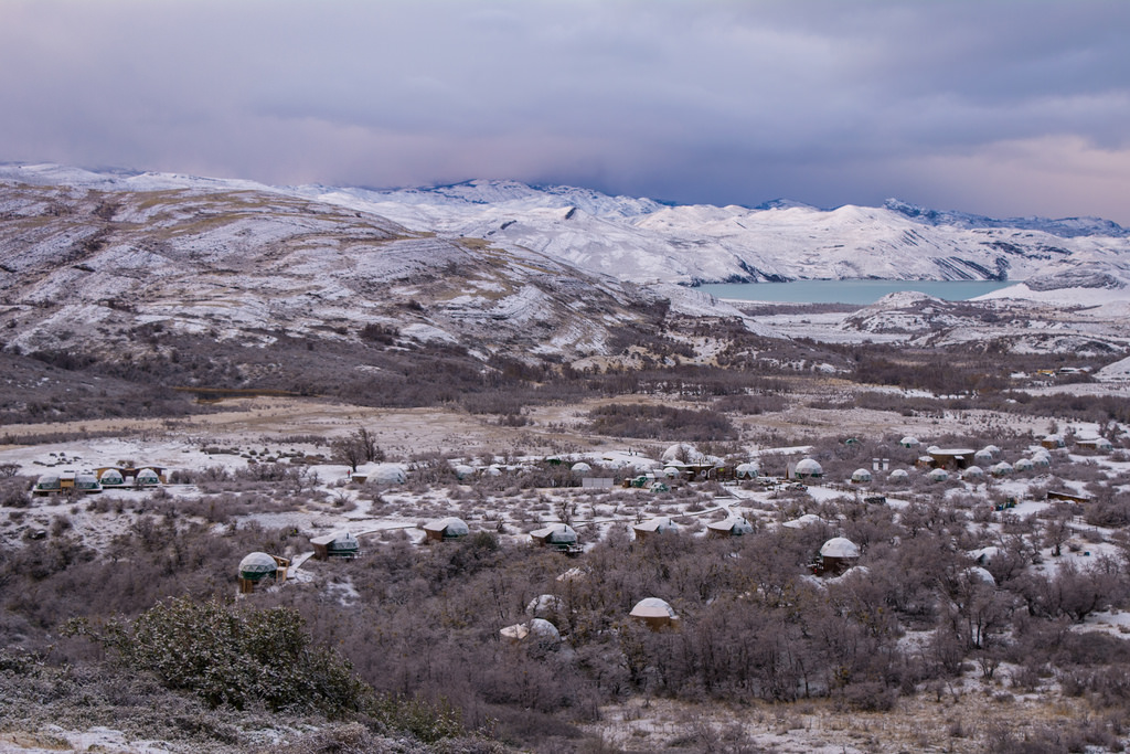 9 EcoCamp in the snow