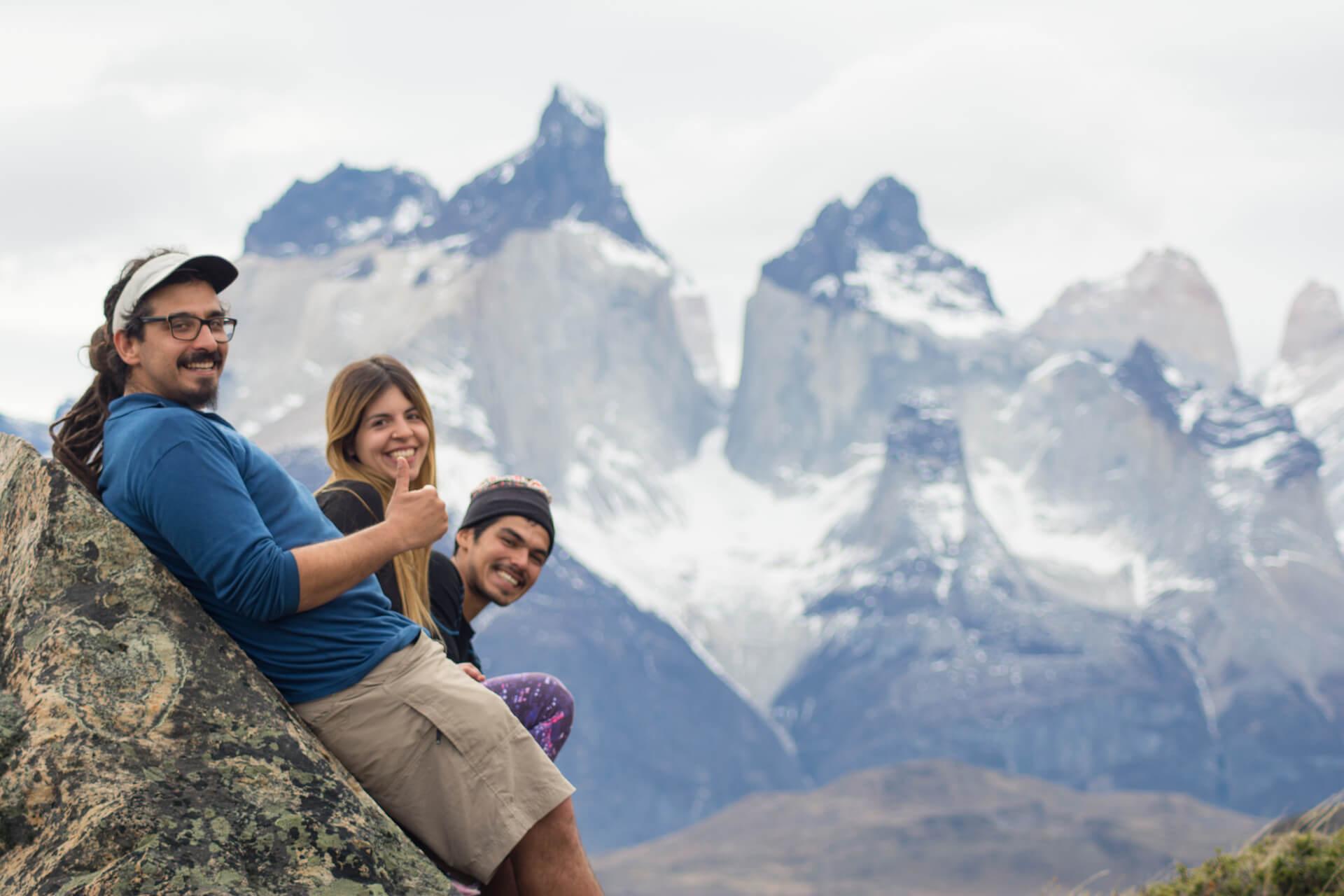 Escalando Cuernos  Torres del Paine EcoCamp Patagonia