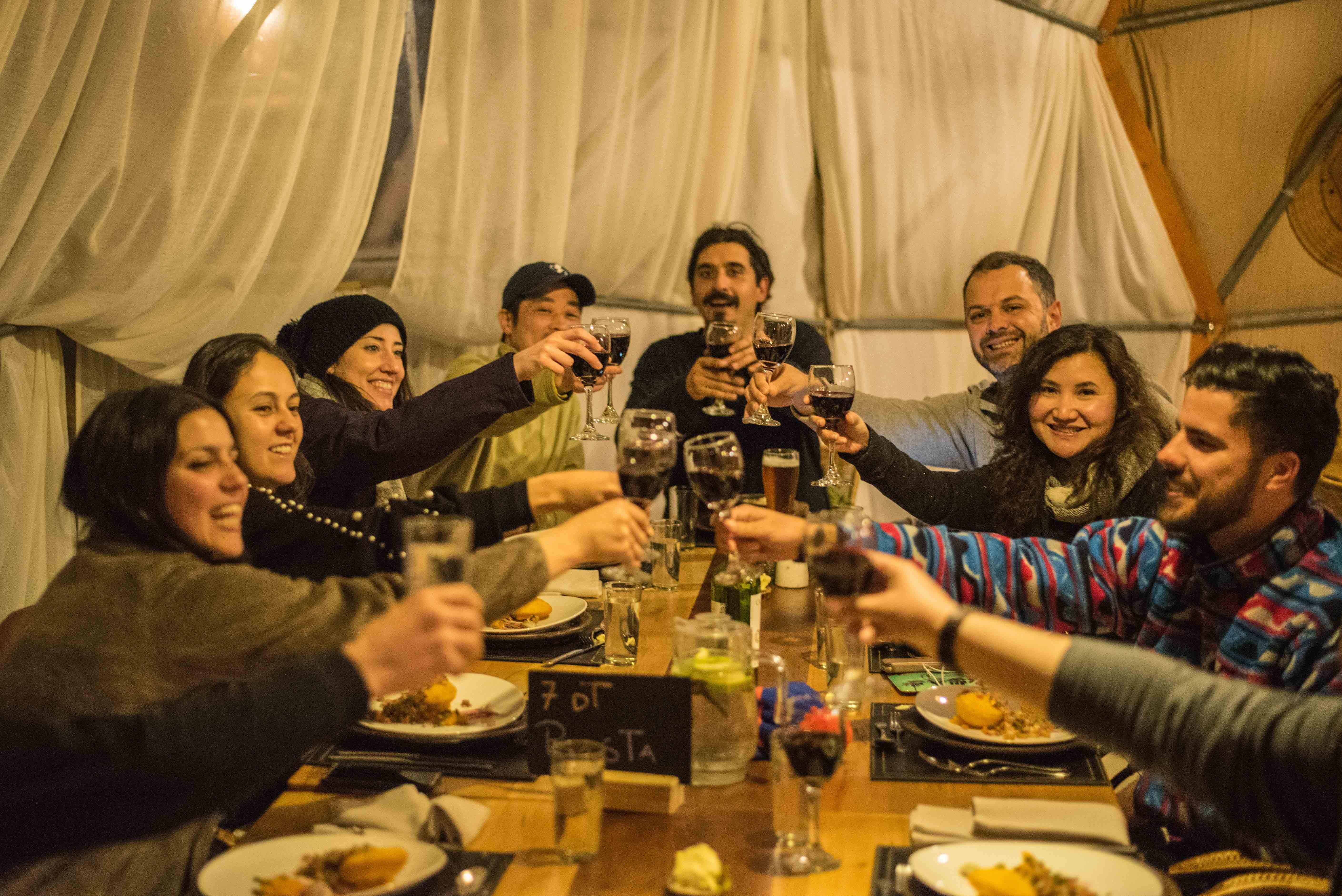 W trek dinner EcoCamp