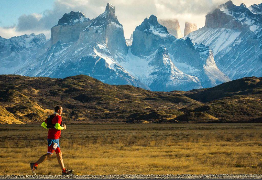 Runner at the Patagonian International Marathon