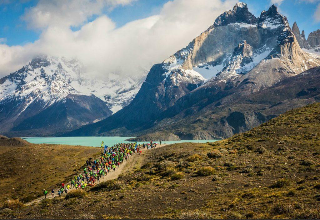 Runners at the Patagonian International Marathon