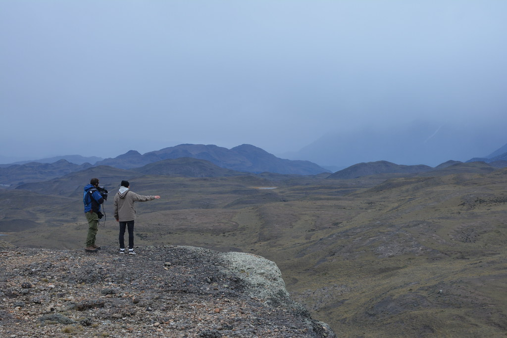 Johnny (camera operator) and Mads (the host) are staring at the immensity of Patagonia.
