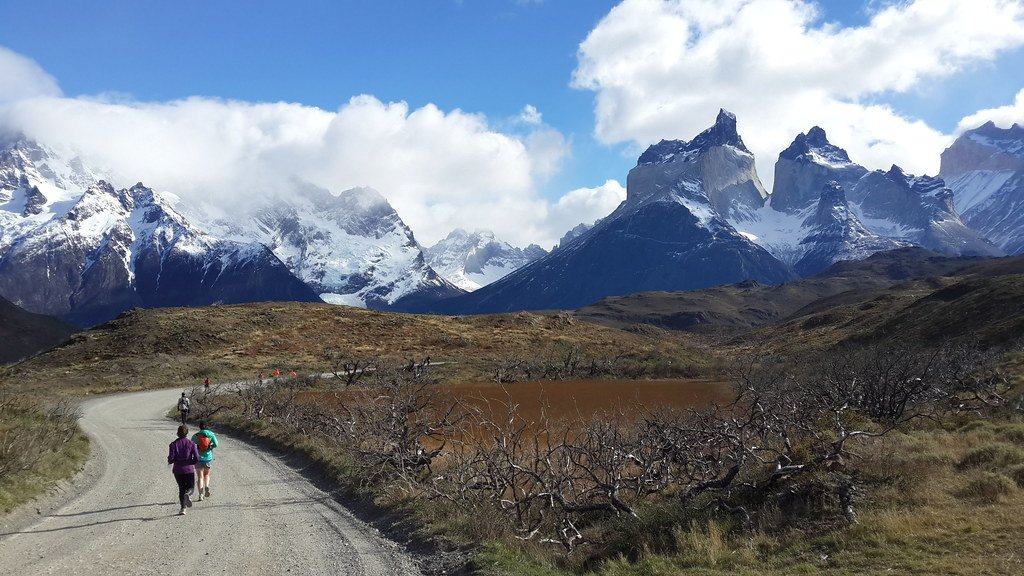 Running in the world's end in Torres del Paine