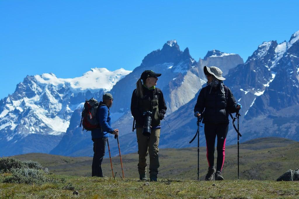 Trekking along the national park