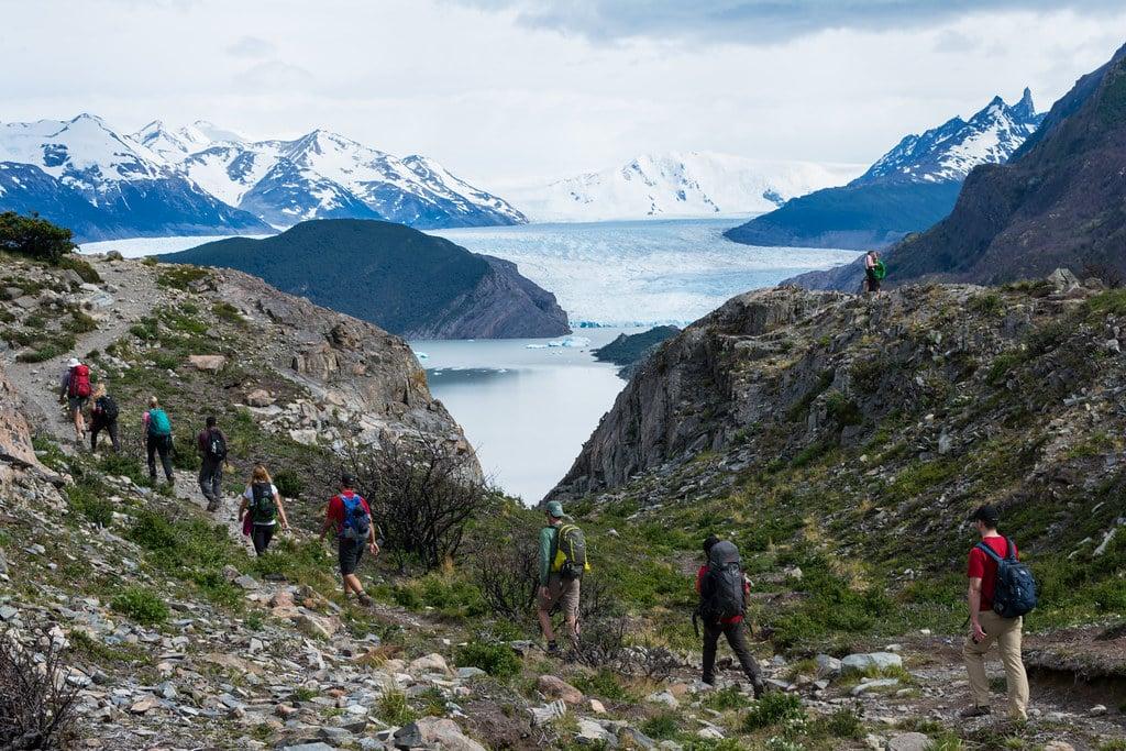 Heading to Grey Glacier