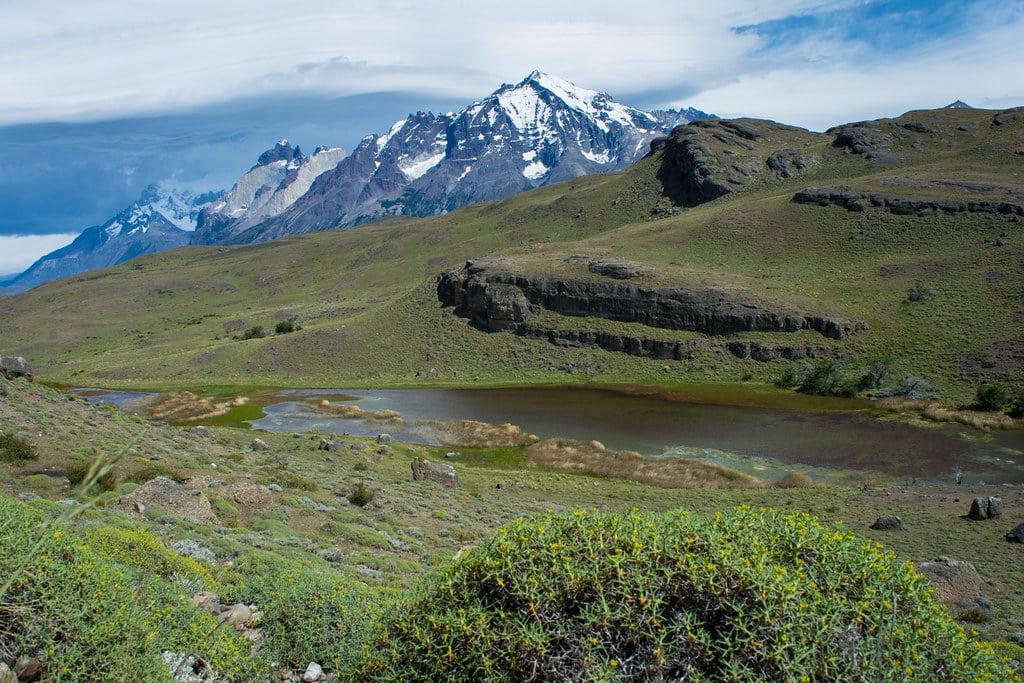 Magic view on the mountain range