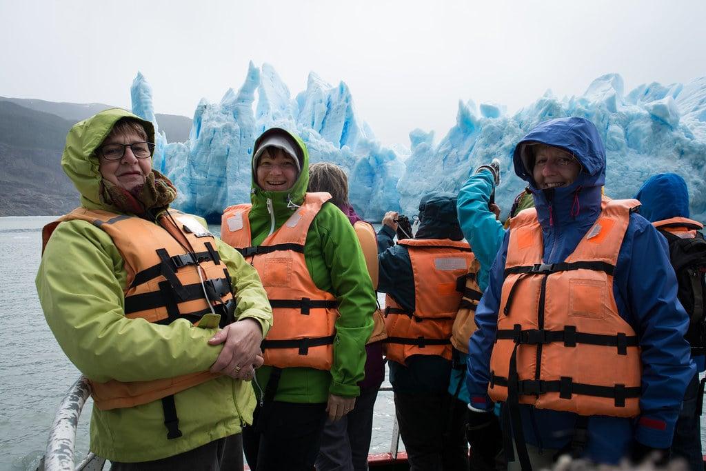 Grey Glacier with nice women!