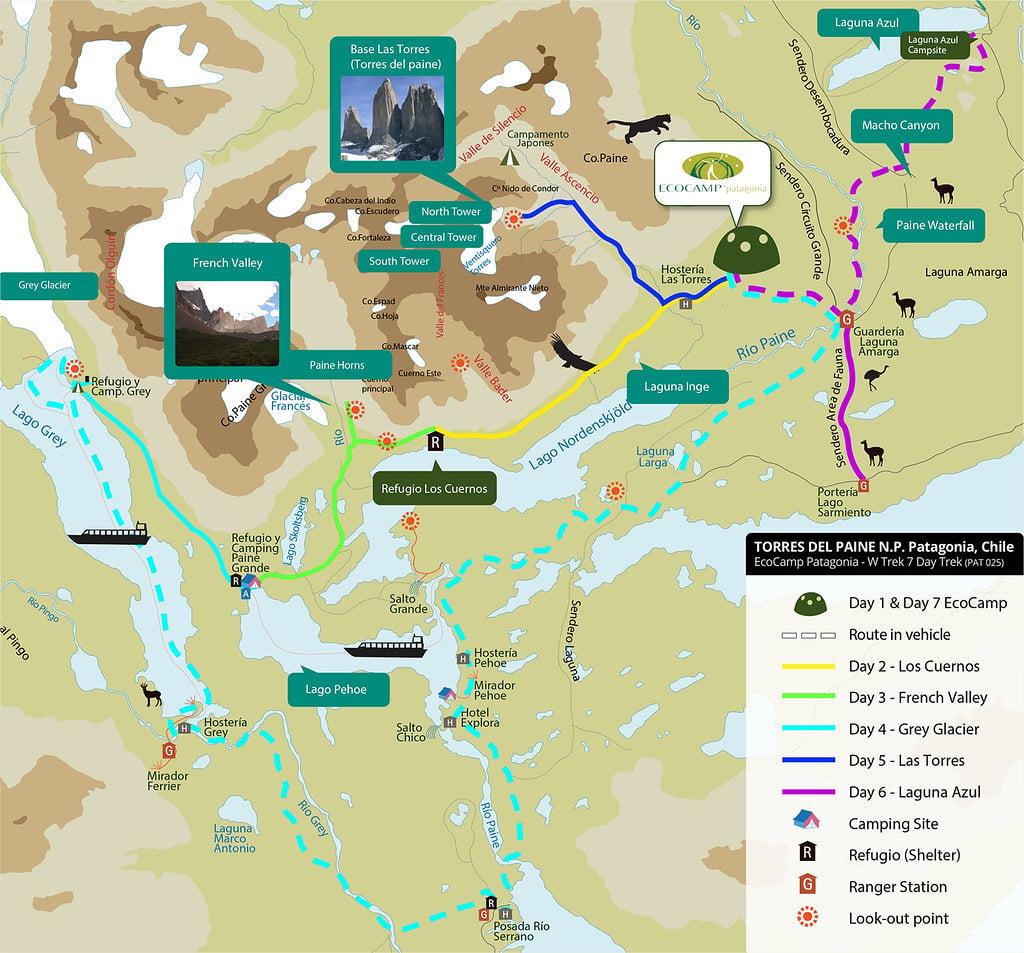 Torres del Paine National Park Map