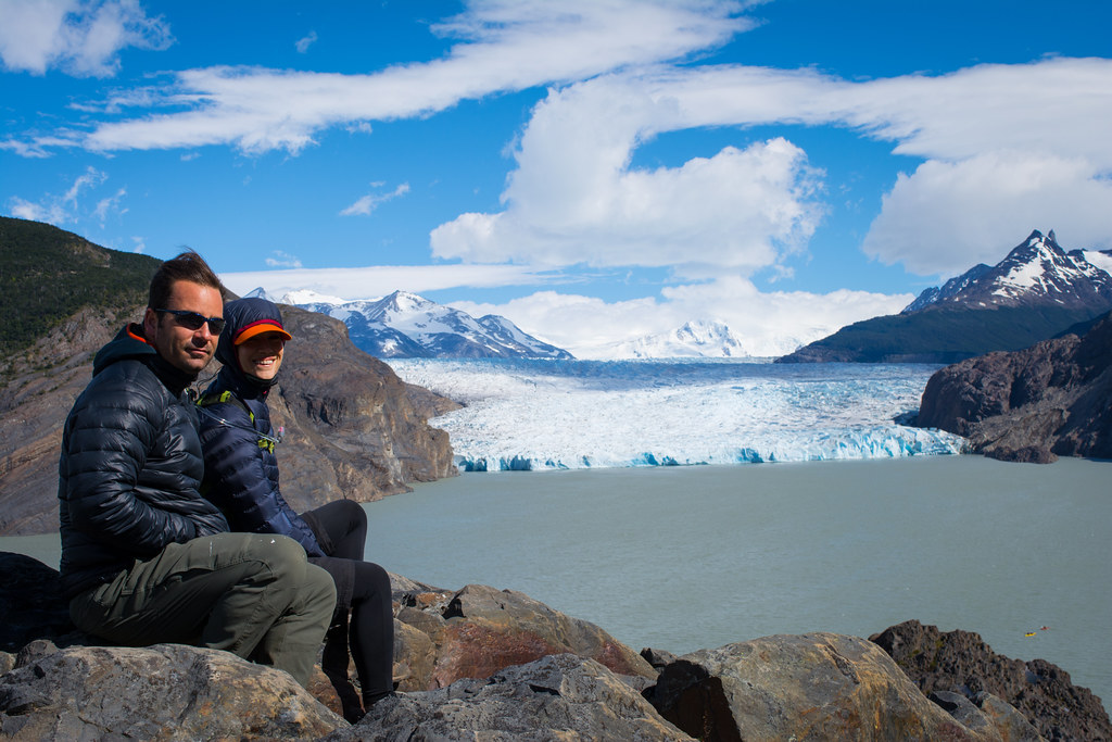Marty and Marina at Grey glacier lookout