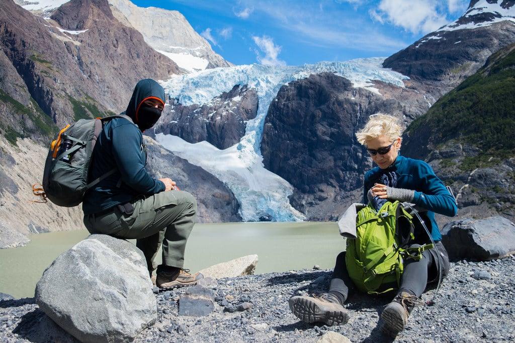 Marty Papazian and Marina Benedict at Perros Glacier