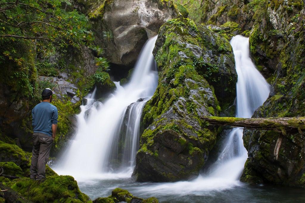 Hiking up on Sierra Masle