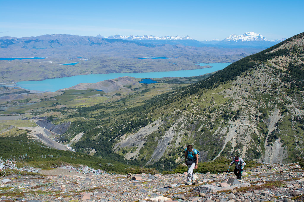 As you gain altitude some stunning lakes will appear...