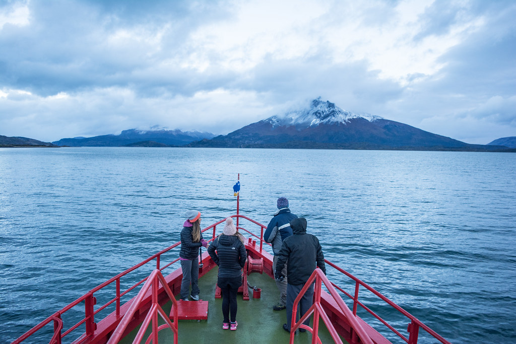 Early Morning Navigation in the mystic Patagonian fog