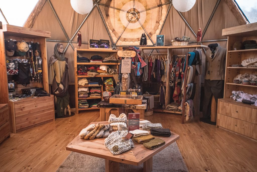Inside our cosy Welcome Dome