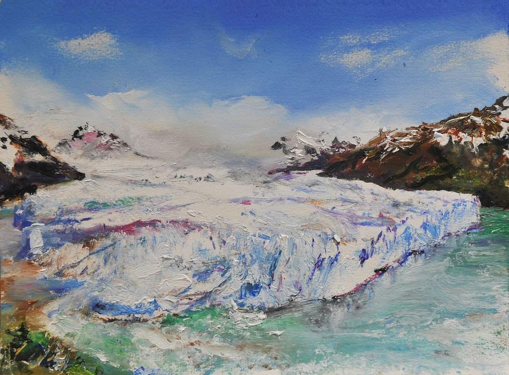 Perito Moreno Painting