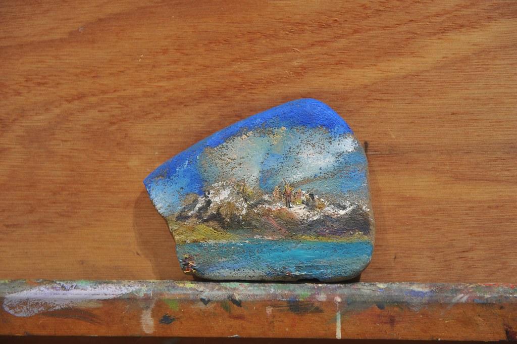 Laguna Azul Painting
