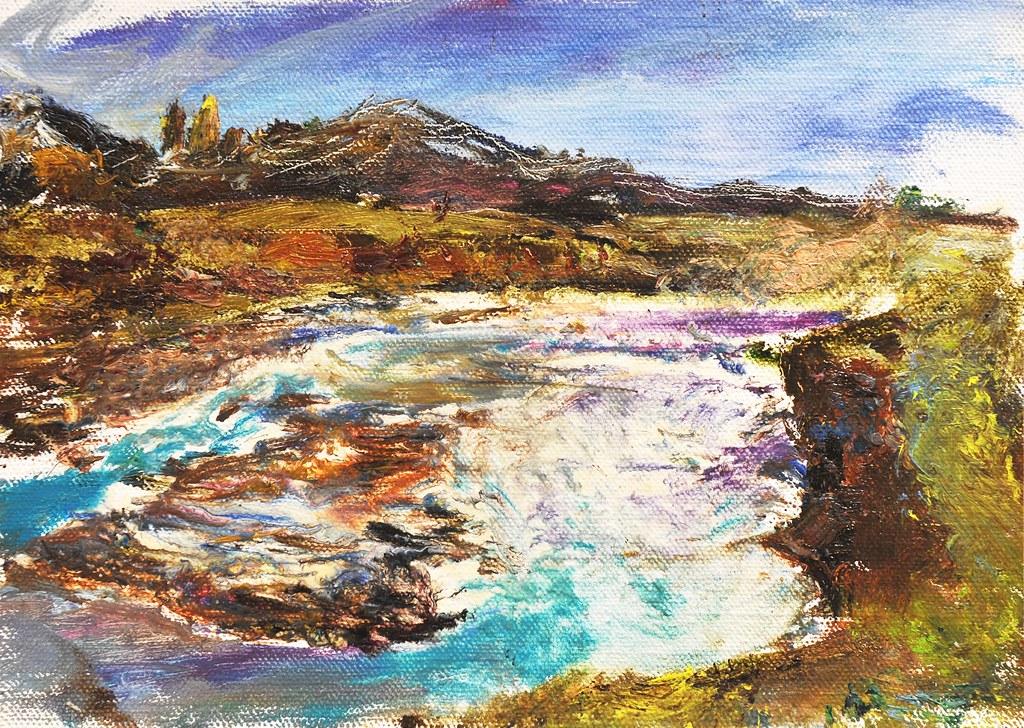 Cascada Paine Painting