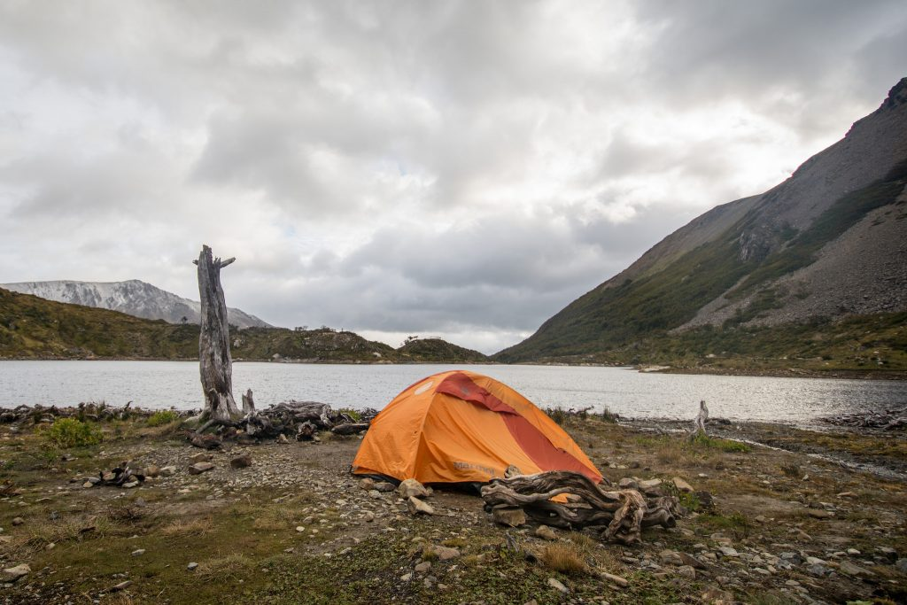 Camping at the end of the world on Navarino Island