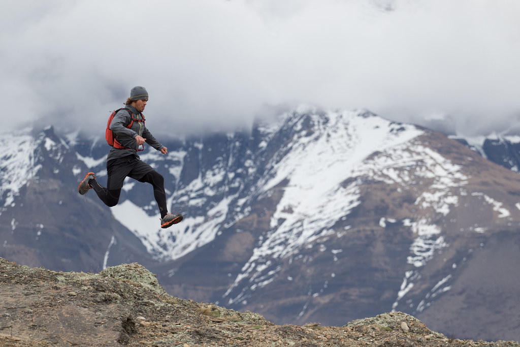 Running in Torres del Paine NP, Chile