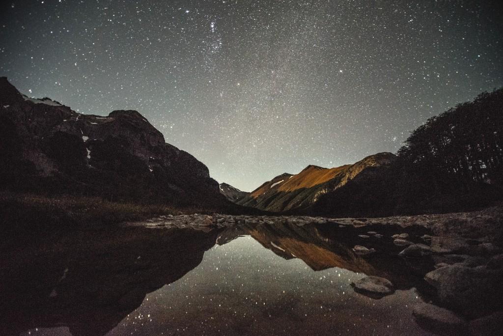 Cerro Castillo at night