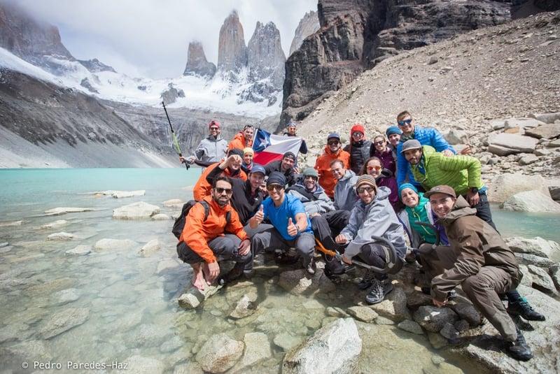 Trek Group in Patagonia