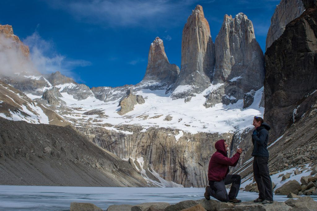 Marriage Proposal in Torres del Paine