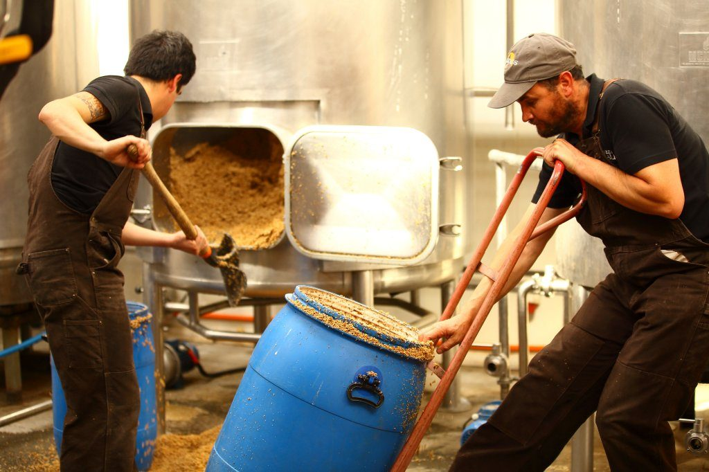 Baguales Brewery employees