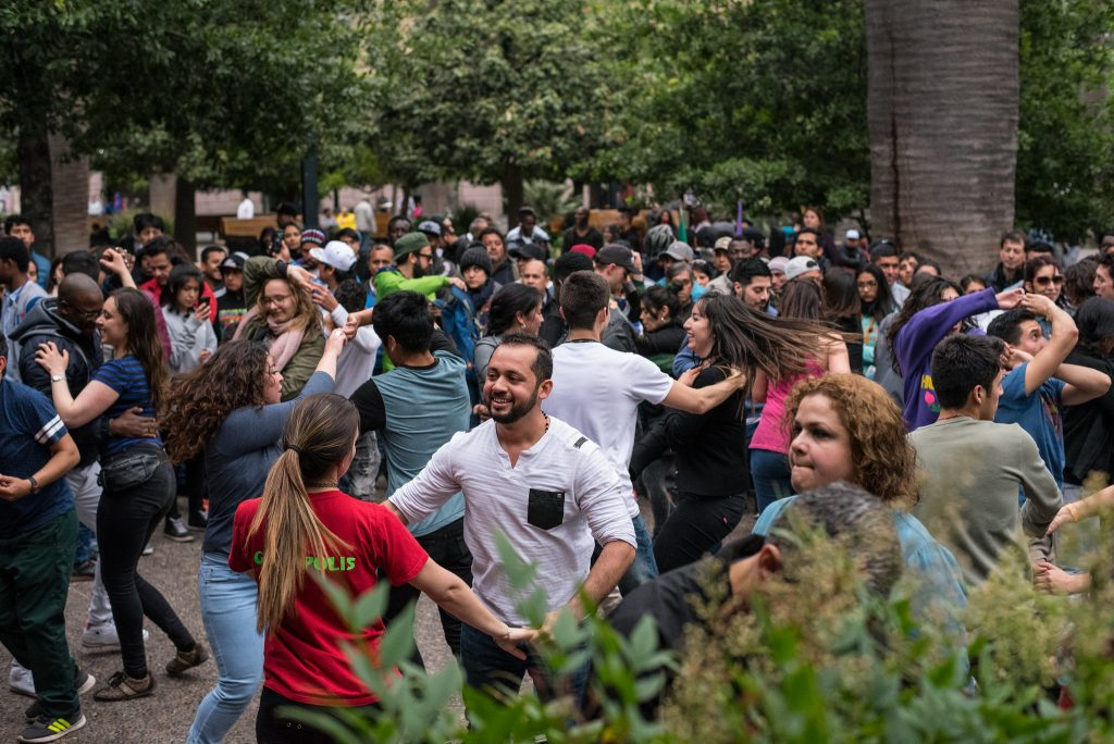 Dancing at Fiesta Patrias