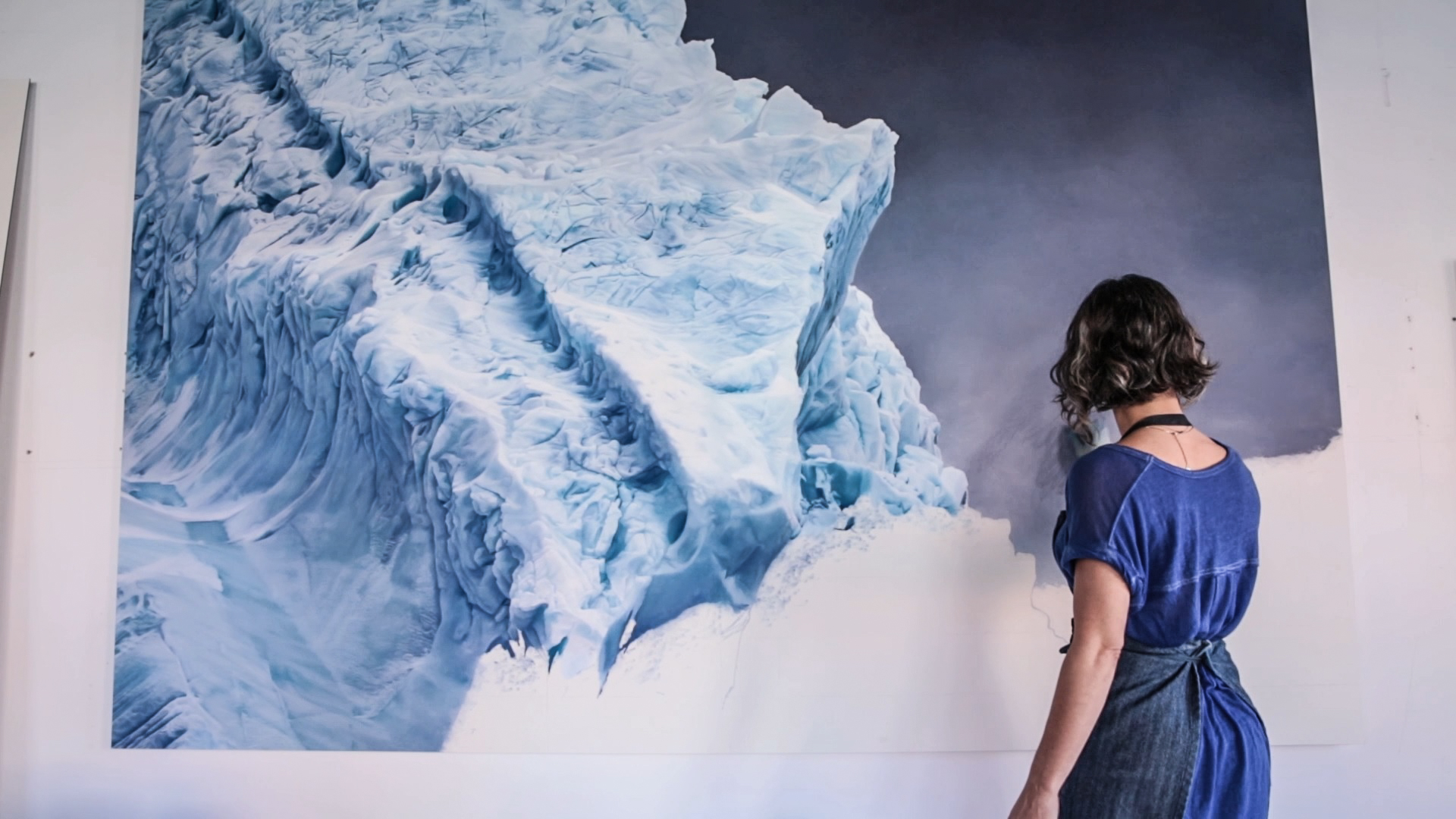 Artist Zaria Forman draws the urgency of climate change